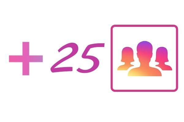 25 IG followers