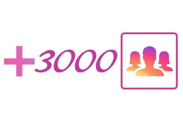 3000 IG followers